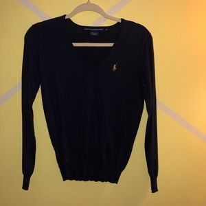 Navy V Neck sweater size small